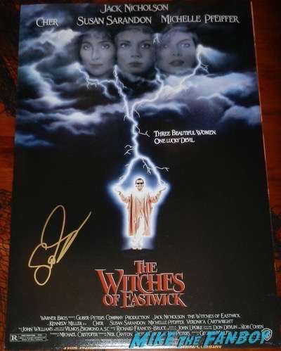 Susan Sarandon signed autograph witches of eastwick poster