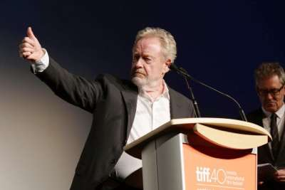 Director Ridley Scott seen at Twentieth Century Fox 'The Martian' Premiere Gala at the 2015 Toronto International Film Festival on Friday, September 11, 2015 in Toronto, CAN. (Photo by Eric Charbonneau/Invision for Twentieth Century Fox/AP Images)