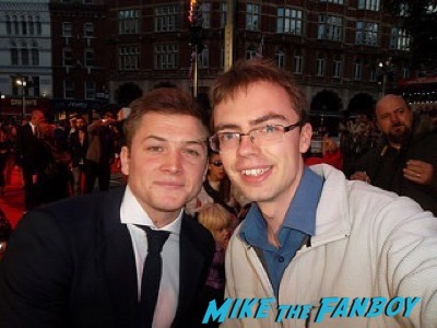 Taron Egerton The Martian UK Premiere red carpet matt damon 1