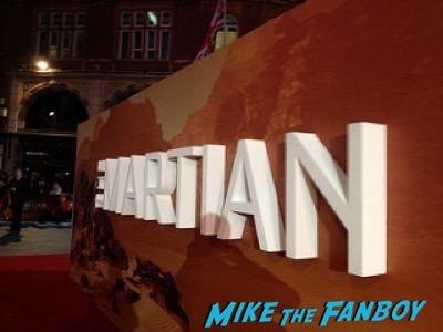 The Martian UK Premiere red carpet matt damon 3