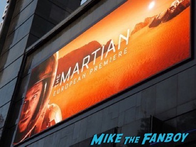 The Martian UK Premiere red carpet matt damon 30