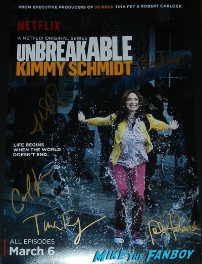 The Unbreakable Kimmy Schmidt signed autograph poster ellie kemper