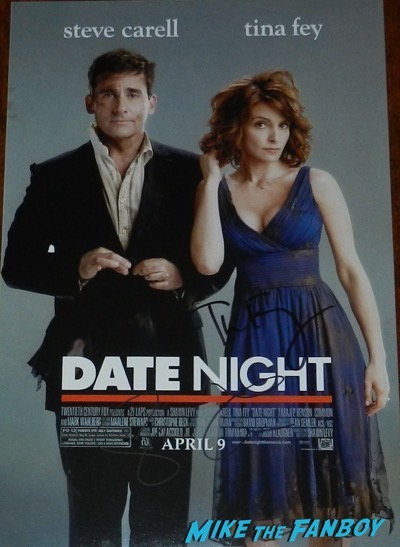 date night signed poster tina key steve carell