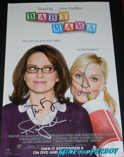 Baby Mama signed autograph poster tina fey amy poehler