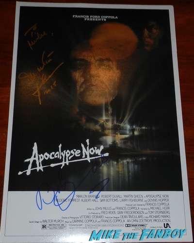 martin sheet robert duvall signed apocalypse now mini poster