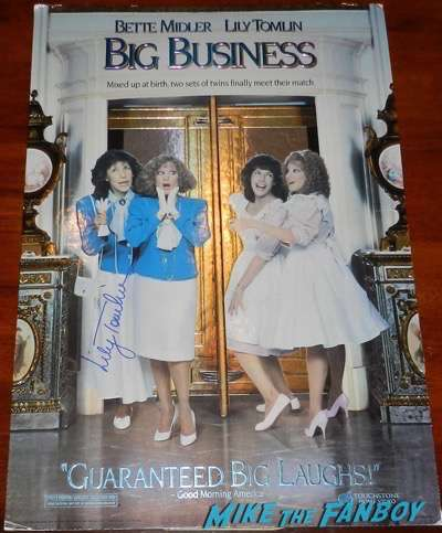 lily tomlin signed big business counter stand