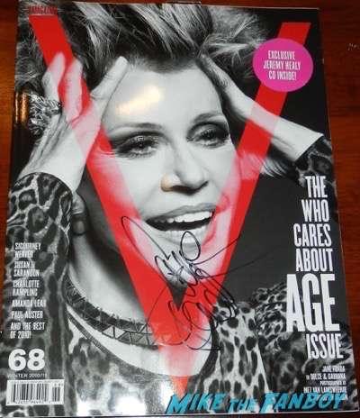 jane fonda signed v magazine