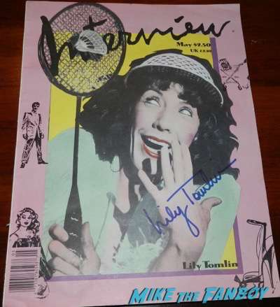 lily tomlin signed interview magazine