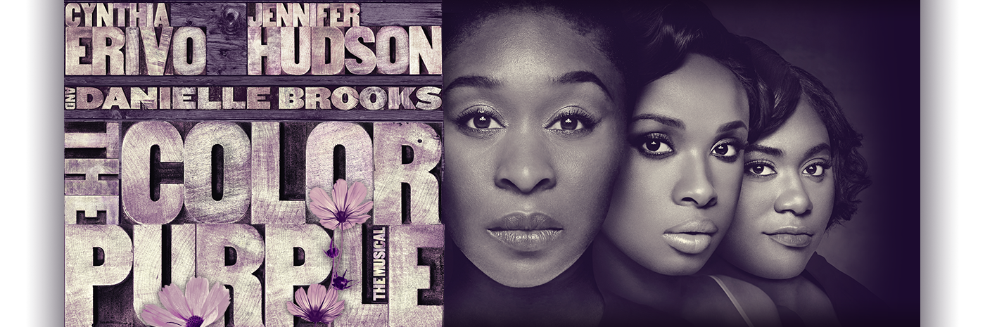 color purple broadway poster
