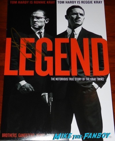 tom hardy signed autograph legend poster