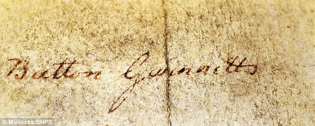 declaration of independence signed autograph
