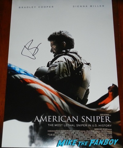 Bradley Cooper signed autograph american sniper poster