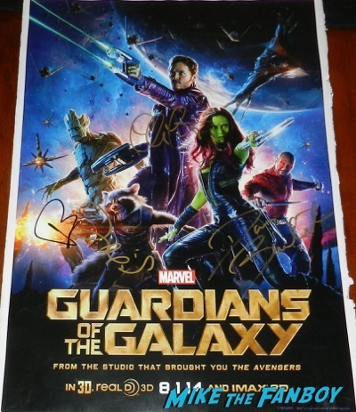 Bradley Cooper signed autograph guardians of the galaxy mini poster