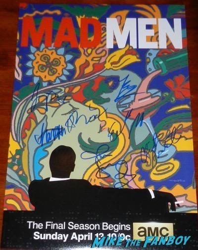 elisabeth moss signed autograph mad men season six poster rare peggy draper