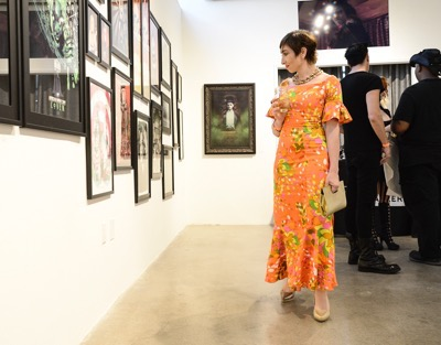 Actress Naomi Grossman seen at the opening night of an American Horror Story-inspired fan art exhibition at the Hero Complex Gallery in Los Angeles on Friday, Oct. 2, 2015. The pop art exhibition, which runs through Oct. 18, features more than 100 originals, prints and sculptures. American Horror Story: Freak Show will be released on Blu-ray and DVD on Oct. 6.  (Photo by Dan Steinberg/Invision for Twentieth Century Fox Home EntertainmentAP Images)