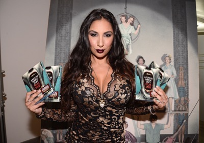 Actress Liana Mendoza seen at the opening night of an American Horror Story-inspired fan art exhibition at the Hero Complex Gallery in Los Angeles on Friday, Oct. 2, 2015. The pop art exhibition, which runs through Oct. 18, features more than 100 originals, prints and sculptures. American Horror Story: Freak Show will be released on Blu-ray and DVD on Oct. 6.  (Photo by Dan Steinberg/Invision for Twentieth Century Fox Home EntertainmentAP Images)