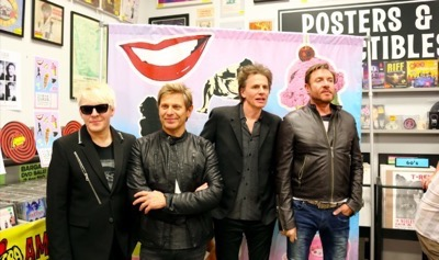 Duran Duran Amoeba music autograph signing paper Gods 6