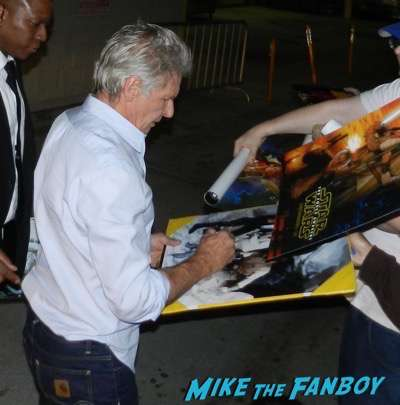 Harrison Ford Signing Autographs Jimmy Kimmel Live 2015 1