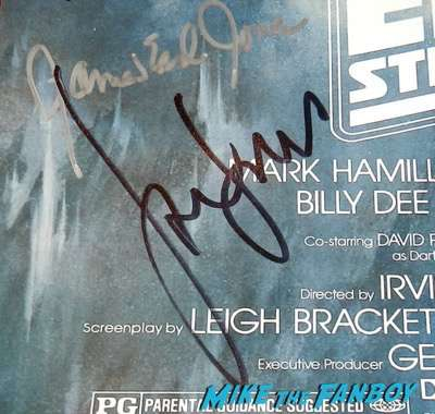 Harrison Ford signed autograph empire strikes back movie poster