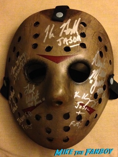 signed autograph jason mask