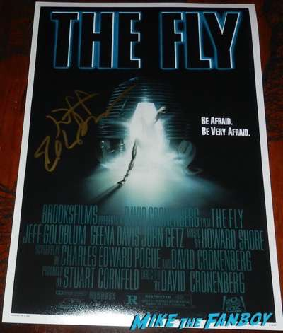 Jeff Goldblum signed autograph the fly poster