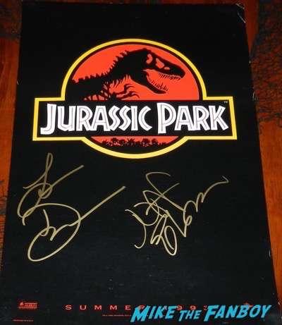Jeff Goldblum signed autograph jurassic park poster