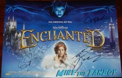 James Marsden signed autograph enchanted uk quad poster