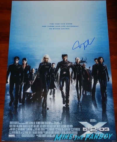 James Marsden signed autograph x2 x-men poster