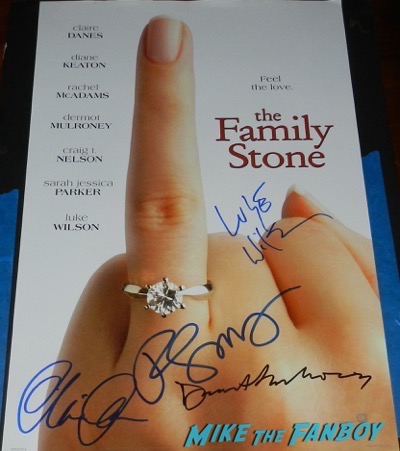 Luke Wilson Signed the family stone poster