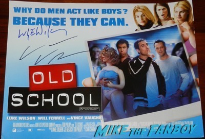 Luke Wilson Signed autograph Old School poster