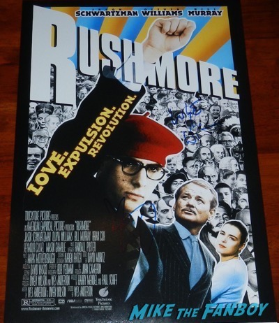 Luke Wilson Signed autograph Rushmore poster