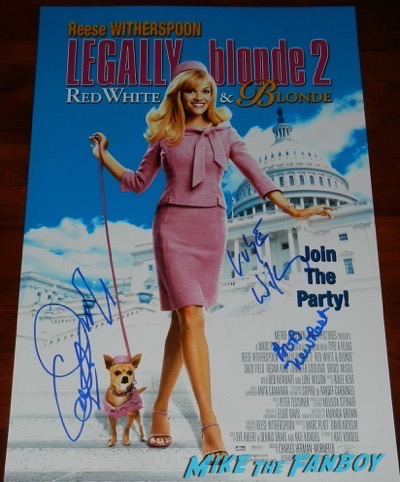 Luke Wilson Signed autograph Legally Blonde 2 poster