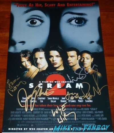 Luke Wilson Signed Scream 2 poster