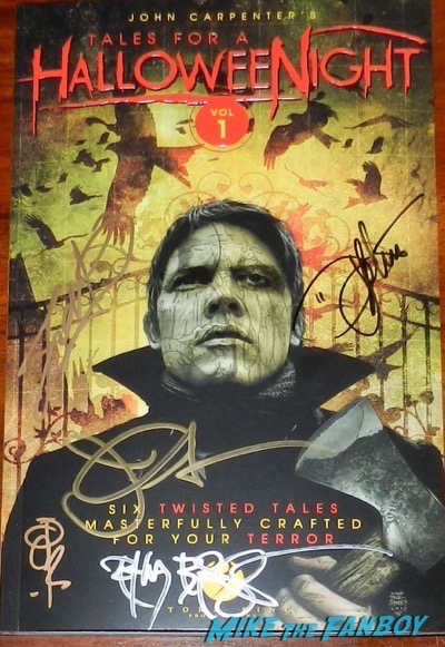 John Carpetner tales from halloween night book signed autograph