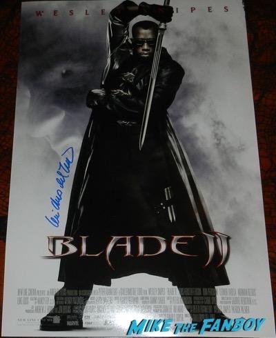 Guillermo del Toro signed autograph Blade II mini poster