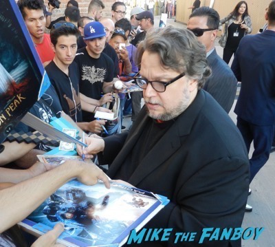 Guillermo del Toro signing autographs jimmy kimmel live 2015 1