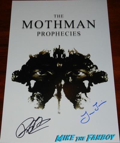 Richard Gere signed autograph the mothman prophecies poster