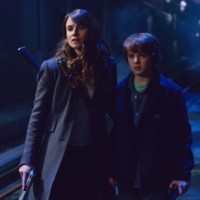"THE STRAIN -- ""Night Train"" -- Episode 213 (Airs October 4, 10:00 pm e/p) Pictured: (l-r) Mia Maestro as Nora Martinez, Max Charles as Zack Goodweather. CR: Michael Gibson/FX"