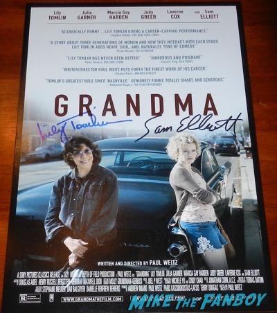 Sam Elliott lily tomlin signed grandma poster