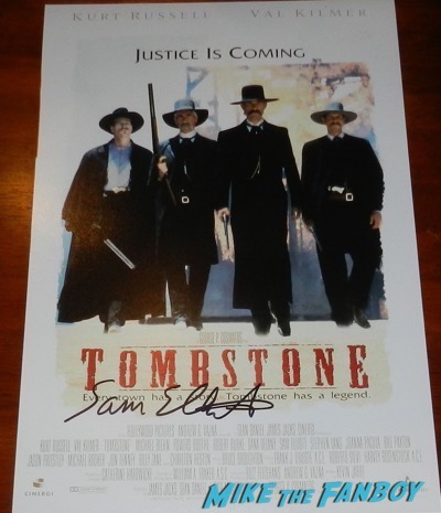 Sam Elliott signed autograph tombstone poster