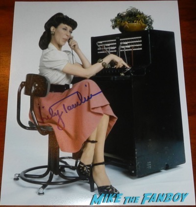 lily tomlin signed autograph ernestine