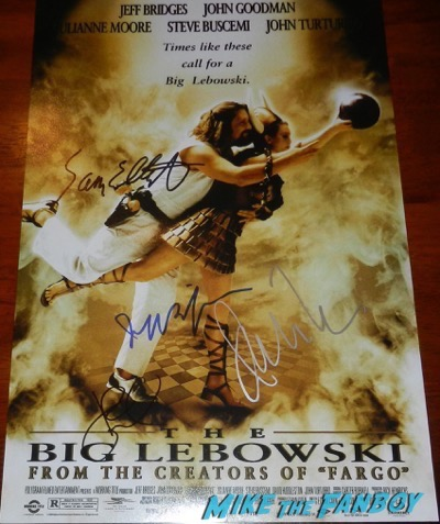 Sam Elliott signed autograph the big lebowski poster