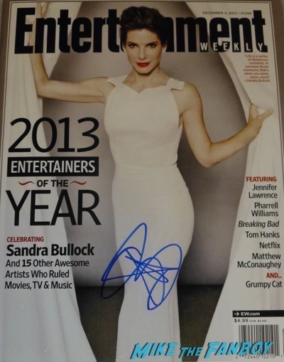Sandra Bullock Signed Autograph Magazine Vogue Entertainment Weekly 1