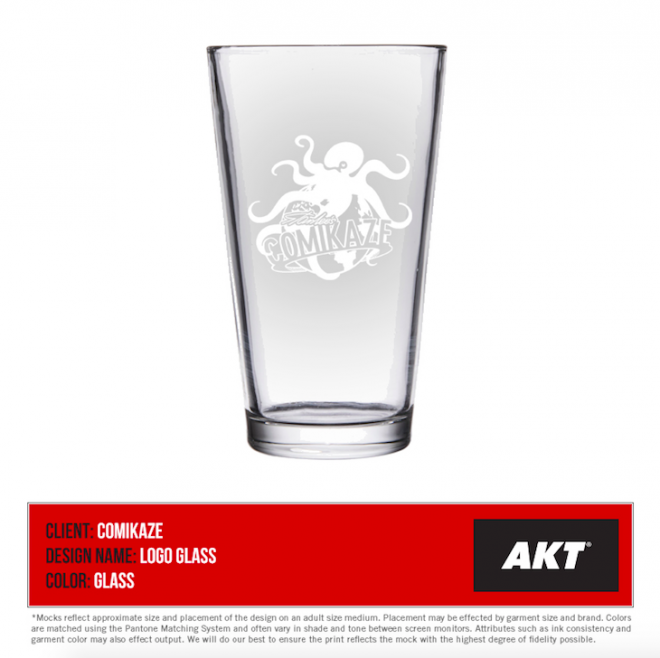 Comikaze exclusive drinking glass 2015
