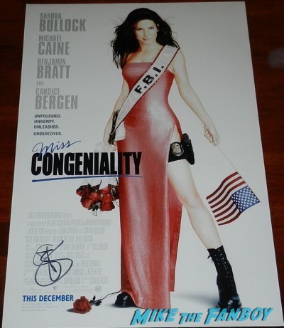 Sandra Bullock signed autograph miss congeniality poster