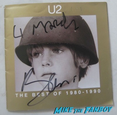 U2 bono signed autograph best of cd