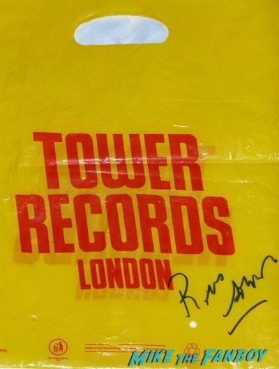 Tower records london bag signed by Russ Solomon sutograph
