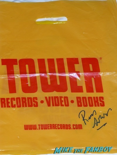 Tower records bag signed by Russ Solomon autograph