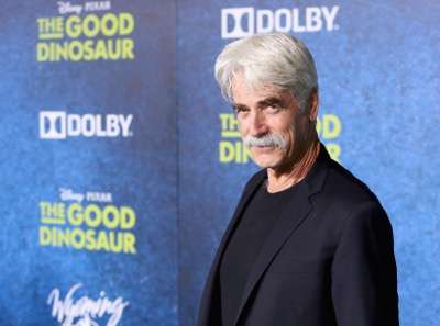 HOLLYWOOD, CA - NOVEMBER 17:  Actor Sam Elliott attends the World Premiere Of Disney-Pixar's THE GOOD DINOSAUR at the El Capitan Theatre on November 17, 2015 in Hollywood, California.  (Photo by Jesse Grant/Getty Images for Disney) *** Local Caption *** Sam Elliott