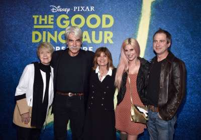 HOLLYWOOD, CA - NOVEMBER 17:  Actors Sam Elliott and Katharine Ross (C) and family attend the World Premiere Of Disney-Pixar's THE GOOD DINOSAUR at the El Capitan Theatre on November 17, 2015 in Hollywood, California.  (Photo by Alberto E. Rodriguez/Getty Images for Disney) *** Local Caption *** Sam Elliott; Katharine Ross